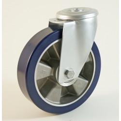 Roulette à trou central, roue à bandage polyuréthane souple CU 120 à 300 Kg