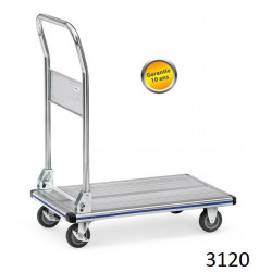 Chariots manuels en aluminium à dossier pliable