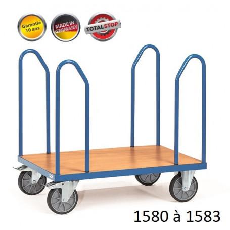 Chariots de manutention avec arceaux latéraux