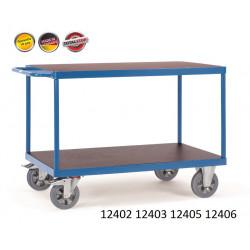 Chariots de manutention renforcé à étagères