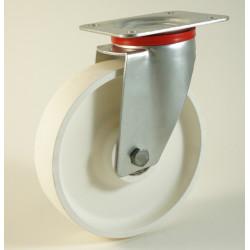 Roulette à platine, roue en polyamide, charges 120 à 400 Kg (série P/22)