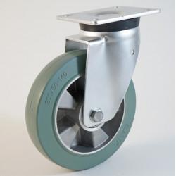 Roulette à platine, bandage caoutchouc non marquant, charges 160 à 600 Kg (série EG/40-60)