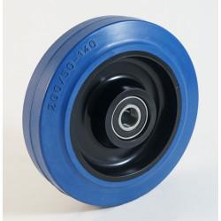 Roue à bandage caoutchouc élastique bleu non marquant, charges 150 à 480 Kg (série LB)