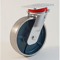 Roulette à platine, roue fonte CU 300 à 1000 Kg