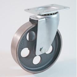 Roulette à platine haute température, roue en fonte CU 100 à 300 Kg