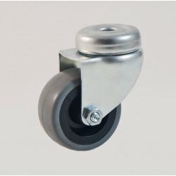 Roulette à oeil bandage caoutchouc non marquant CU 40 à 55 Kg