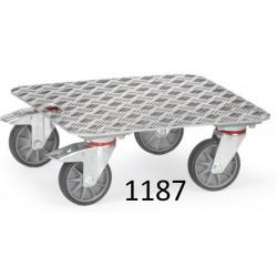 Plateaux roulants surface en aluminium antidérapant