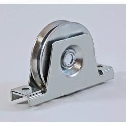 Roue de portail en acier à support à encastrer, gorge V, charges 300 à 600 Kg (série N220)